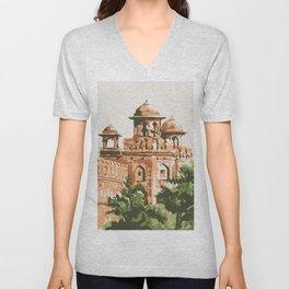 Red Fort in Delhi India Unisex V-Neck
