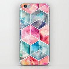 Translucent Watercolor Hexagon Cubes iPhone & iPod Skin