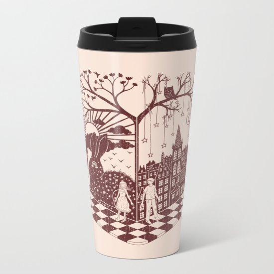 So close yet so far away Metal Travel Mug