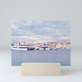 Cloudy Harbour Mini Art Print