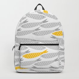 Cute Fish on Grey Background Backpack
