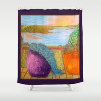 oakland Shower Curtains featuring A Beautiful View by Ana Lillith Bar