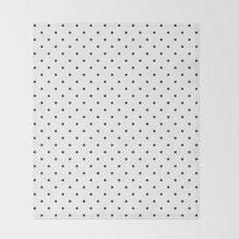 Little Dots Black on White Throw Blanket