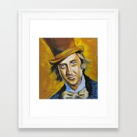 willy wonka Framed Art Prints featuring Willy Wonka by Buffalo Bonker