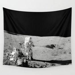 Apollo 14 - Black & White Moon Work Wall Tapestry
