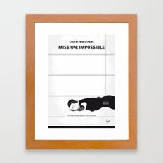 No583 My Mission Impossible minimal movie poster Framed Art Print