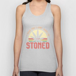 I wear this T-shirt when I'm stoned Unisex Tank Top