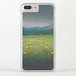 Wild Flowers Grow in Wild Places Clear iPhone Case