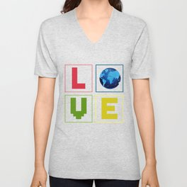 Love Earth Unisex V-Neck