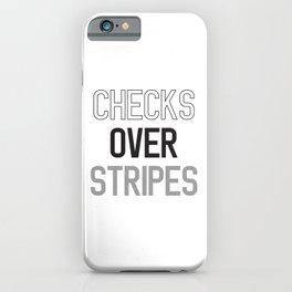 CHECKS OVER STRIPES iPhone Case