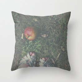 Don't Eat the Apple Throw Pillow