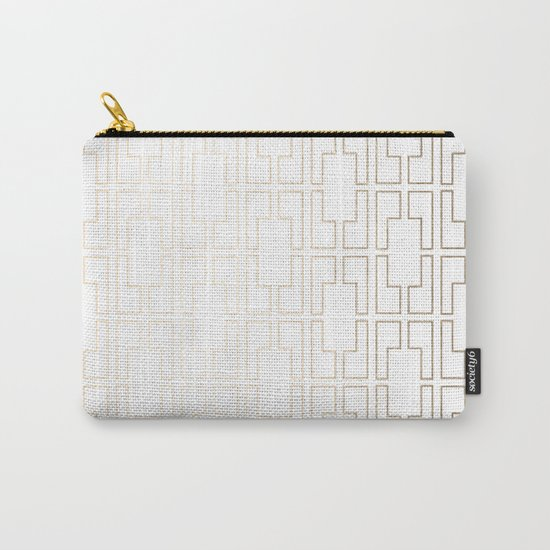 Simply Mid-Century in White Gold Sands Carry-All Pouch