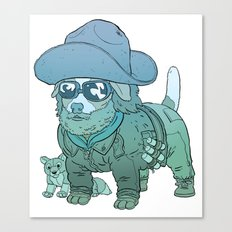 Kurt Russell Terrier - R.J. MacReady Canvas Print