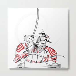 READY FOR BATTLE SAMURAI!! Metal Print