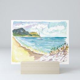 Anse de Grande Saline Saint Barthelemy Caribbean Beach Scene Mini Art Print