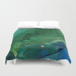 Ocean gold Duvet Cover