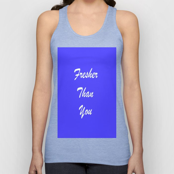 Fresher Thank You : Periwinkle Unisex Tank Top