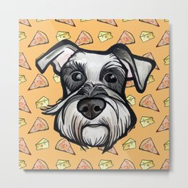 Peter loves pizza and cheese Metal Print