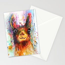 Llama love Stationery Cards