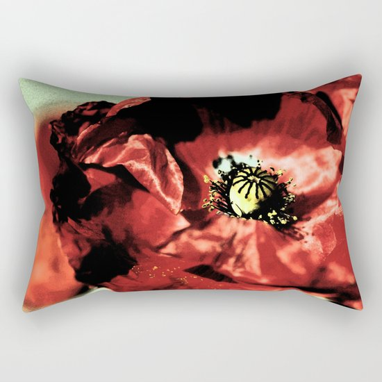 one red poppy Rectangular Pillow