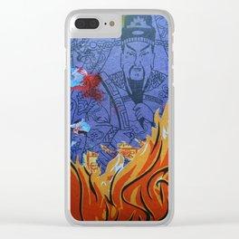 Burnin' Paper 1 Clear iPhone Case
