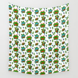 Tropical Bird of Paradise Pattern Wall Tapestry