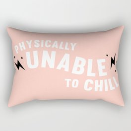 physically unable to chill (peach) Rectangular Pillow