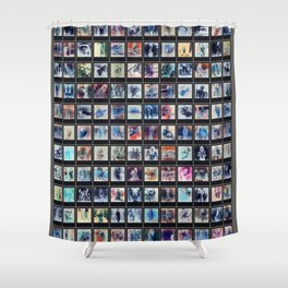 128 Sexy Polaroids in Negative Shower Curtain