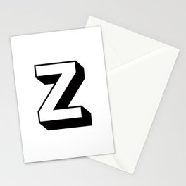 Letter Z ... As Easy As ... Stationery Cards