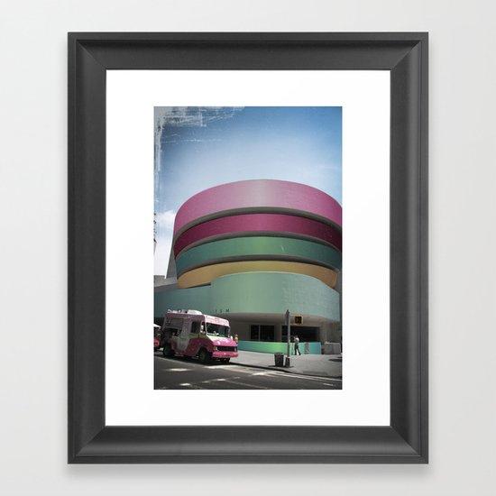 Bubble Gum Guggenheim Framed Art Print