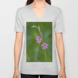 Beauty in nature, wildflower Gladiolus illyricus Unisex V-Neck