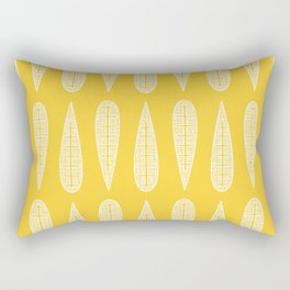 Golden Gum Leaves Rectangular Pillow