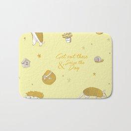 Yellow armadillo pattern Bath Mat