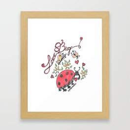 """Love Bug"" Framed Art Print"