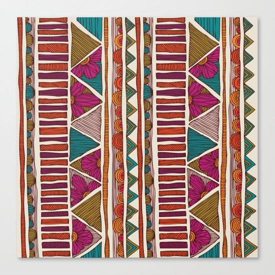 Tribal stripes Canvas Print