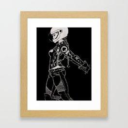 Ton-Up Chick Framed Art Print
