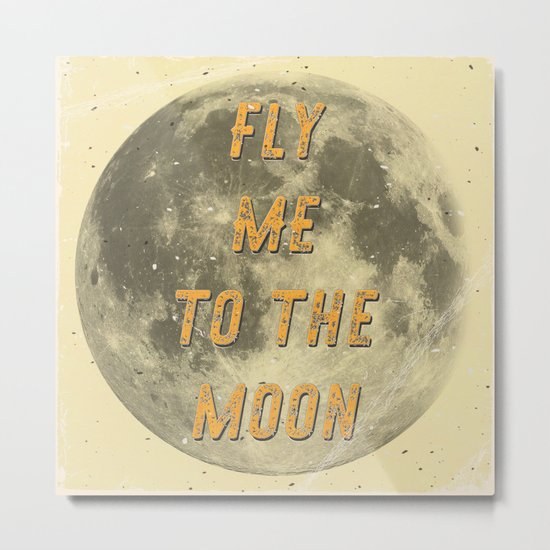 Fly me to the Moon - A Hell Songbook Edition Metal Print