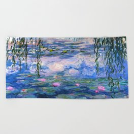 Water Lilies Monet Beach Towel