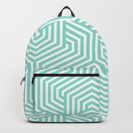 Middle blue green - heavenly - Minimal Vector Seamless Pattern Backpack