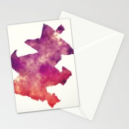 Lexington-Fayette Kentucky city watercolor map in front of a white background Stationery Cards