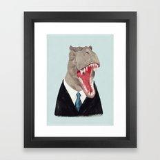 T. Rex - All Business Framed Art Print