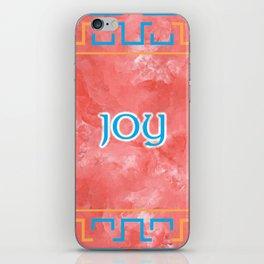 Joy On A Blue Orange Pattern iPhone Skin