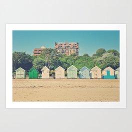 in a row Art Print