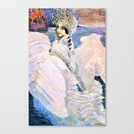 12,000pixel-500dpi - Mikhail Vrubel - The Swan Princess - Digital Remastered Edition Canvas Print