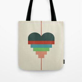 heart geometry Tote Bag