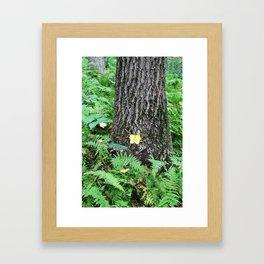 Yellow Leaf Framed Art Print