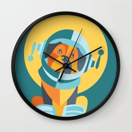 One Giant Leap for All Muttkind Wall Clock