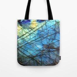 Royal Labradorite Crystal Agate Gemstone Print Tote Bag