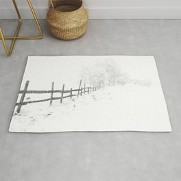 Fence and Snow Rug