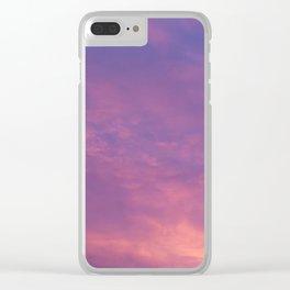 Peach & Violet Blaze Clear iPhone Case
